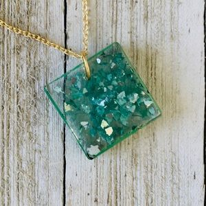 Handmade Resin Pendant necklace
